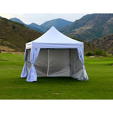 Pop Up Canopy With Curtain Wall Enclosure 10 X 10