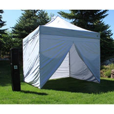 UnderCover® 10' x 10' Commercial Instant Canopy with 100 Sq Ft. CRS Polyester Wall Enclosure
