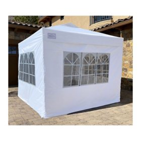 10'x10' POPUPSHADE Plus Instant Canopy with Window-Wall Zippered Enclosure