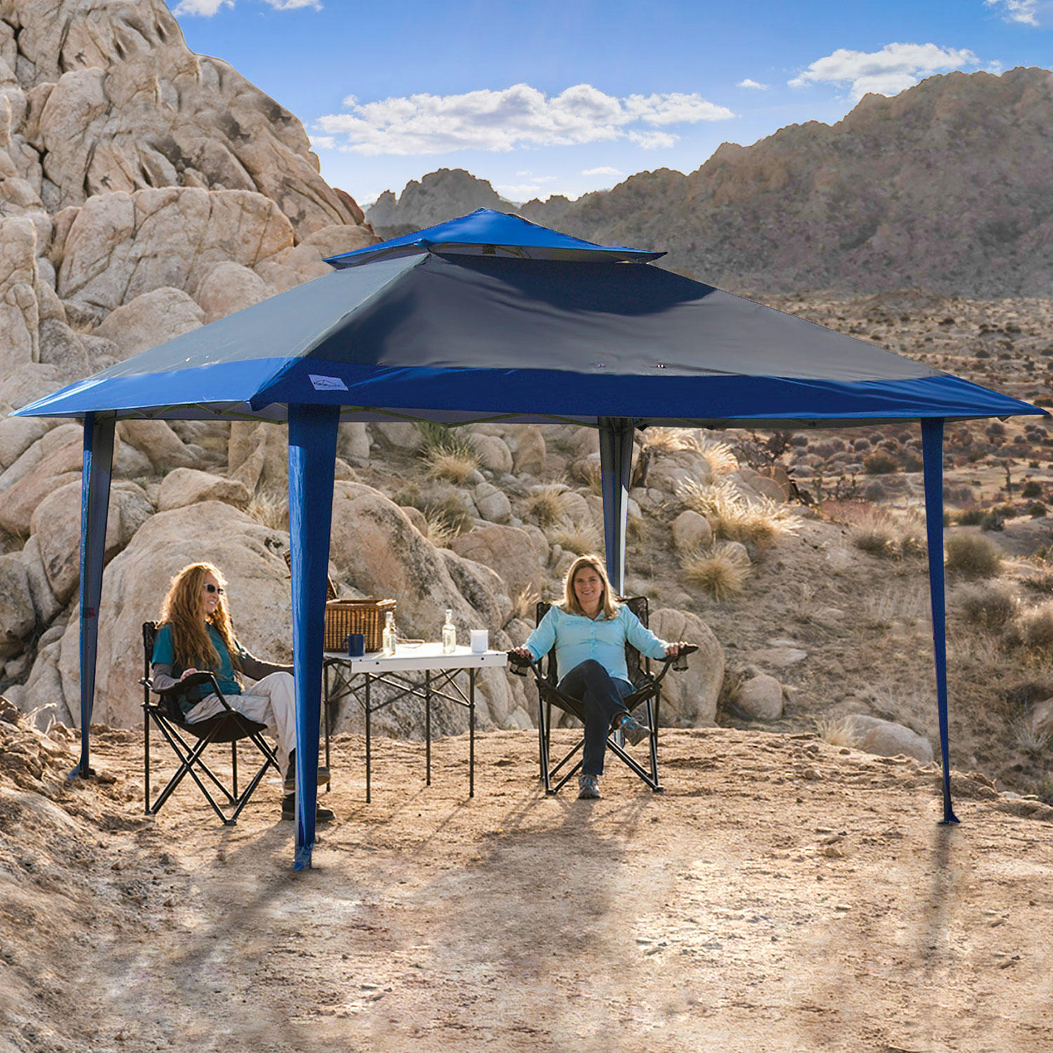 13'x13' POPUPSHADE Instant Canopy with POPLOCK X-Wing Frame, Wheel-Bag