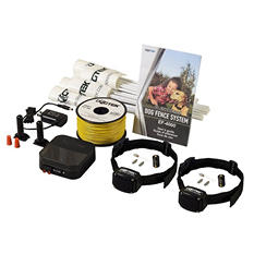 Dogtek EF-4000B25 Electronic Dog Fence System with 2 Collars