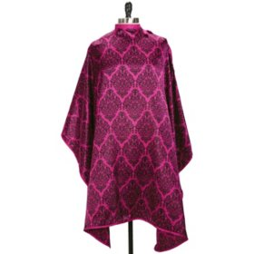 Water-Resistant Hair Cutting Styling Cape With Snap Closures