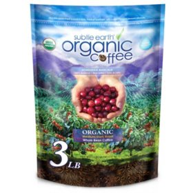 Subtle Earth Whole Bean Arabica Coffee, Medium Dark Roast (48 oz.)