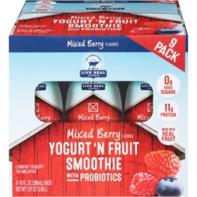 Live Real Farms Mixed Berry Smoothies (10 oz., 9 pk.)