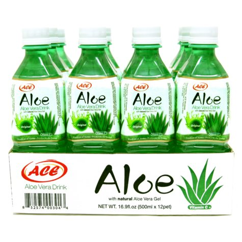 ACE Aloe Vera Juice - Original - 16.9 oz. - 12 pk.