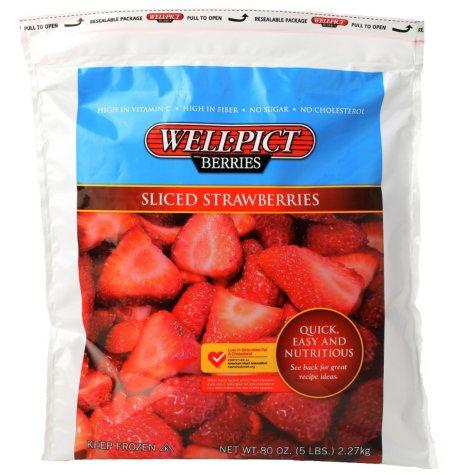 Well-Pict Berries Sliced Strawberries (5 lbs.)
