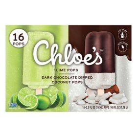 Chloe's Frozen Dairy-Free Dessert Pops, Variety Pack (16 ct.)