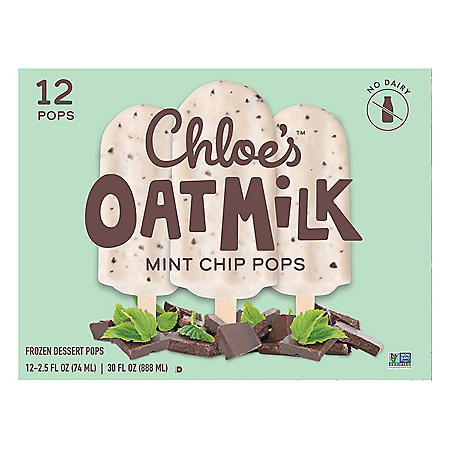Chloe's Mint Chip Oatmilk Pops, Frozen (12 ct.)
