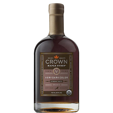 Crown Maple Very Dark Color Maple Syrup (25 fl.oz.)