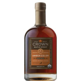 Crown Maple Amber Color and Rich Taste Organic Maple Syrup (25 fl oz.)