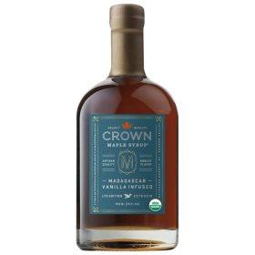 Crown Maple Madagascar Vanilla Infused Organic Maple Syrup (25 oz.)