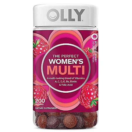 OLLY Women's Multi Vitamin Gummies with Biotin, Blissful Berry (200 ct.)