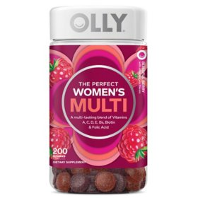 OLLY Women's Multi Vitamin Gummies with Biotin, Blissful Berry (200 ct.)