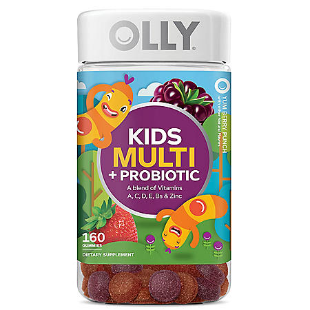 Olly Kids Multi + Probiotic Yum Berry Punch Vitamin Gummies (160 ct.)