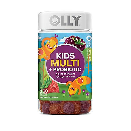 Lil' Ollys Kids' Multi + Probiotic Yum Berry Punch Vitamin