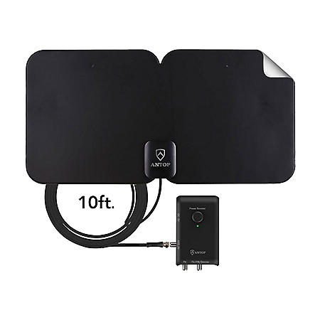 Antop HDTV & FM Amplified Paper-Thin Antenna featuring Smart Boost - AT-300SBS