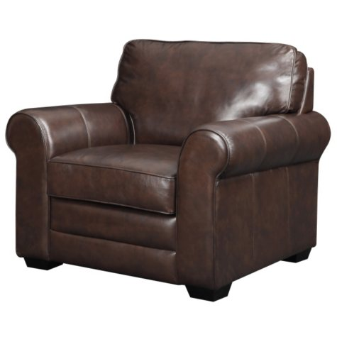 Bailey Leather Stationary Chair