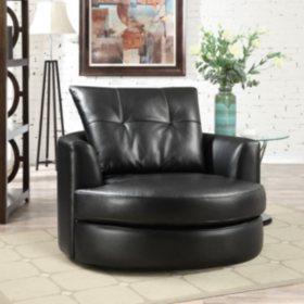 Astonishing Mckee Leather Swivel Chair Sams Club Uwap Interior Chair Design Uwaporg