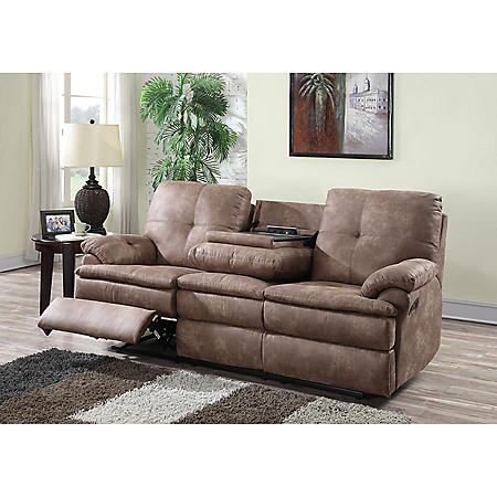 Buck Faux Leather Reclining Sofa Sam S Club