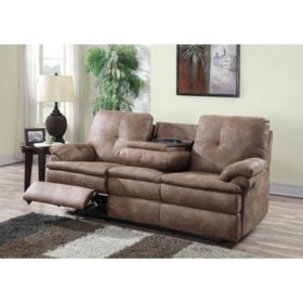 Buck Faux-Leather Reclining Sofa - Sam\'s Club