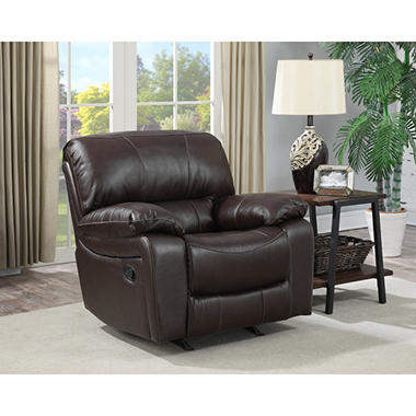 Buck Faux Leather Reclining Sofa Baci Living Room