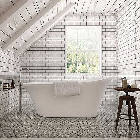 "OVE Decors 70"" Rachel Freestanding Bath Tub"