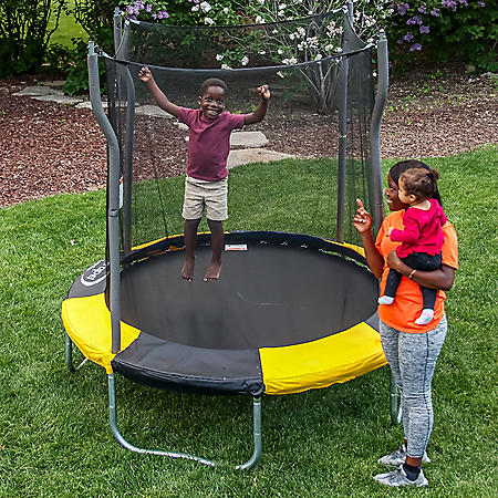 7' Round Trampoline with Safety Enclosure