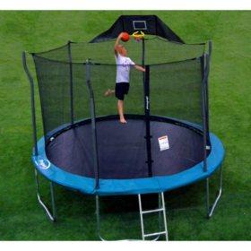 Jump-N-Jam Trampoline Basketball Hoop