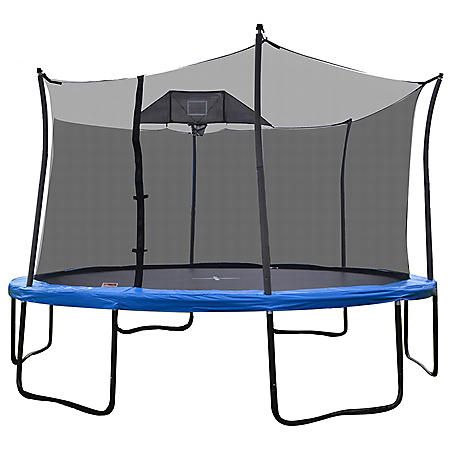 Propel 14' Heavy-Duty Pro Trampoline With Basketball Hoop