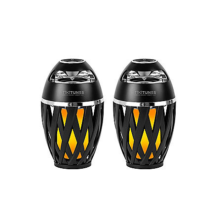 TikiTunes 2-Pack of Wireless Bluetooth Speakers with LED Atmospheric Lighting Effect