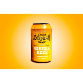 Omaha's Brickway Ginger Non-Alcoholic Beer (12 fl. oz. can, 6 pk.)