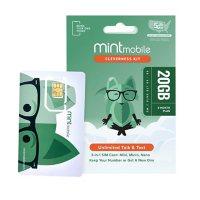 Mint Mobile Sim Kit Bundle (includes 3 Month Plan - 15GB/Mo)