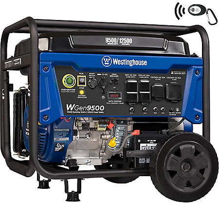 Westinghouse 9,500/12,500-Watt Gasoline-Powered Portable Generator