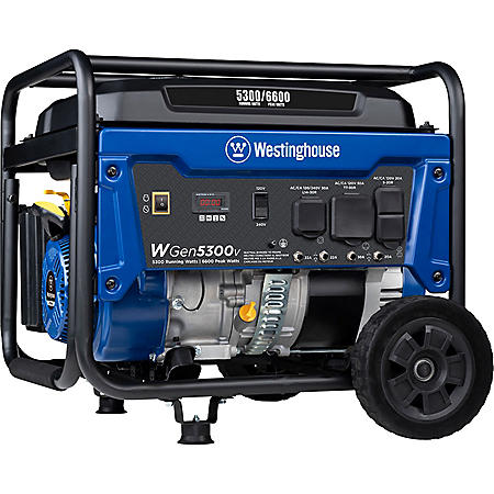 Westinghouse WGen5300v 5,300/6,600-Watt Gasoline Powered Portable Generator