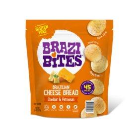 Brazi Bites Brazilian Cheese Bread, Cheddar & Parmesan (45 ct.)