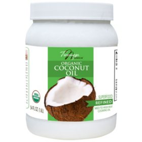 Tresomega Nutrition Organic Refined Coconut Oil (54 oz., 6 ct.)