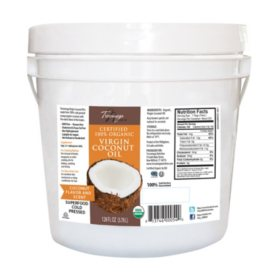 Tresomega Nutrition Organic Virgin Coconut Oil Pail (128 oz.)