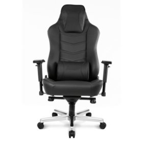 AKRacing Office Series Onyx Deluxe Executive Real Leather Desk Chair - Black