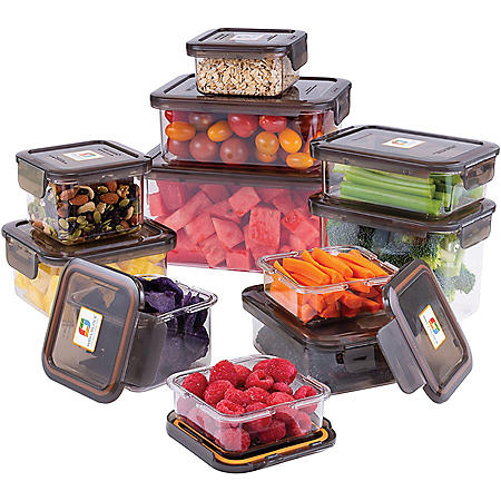 22-Piece Food Storage Container Deluxe Pack (Assorted Colors)