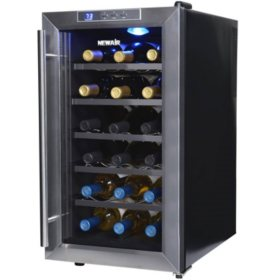 NewAir 18-Bottle Stainless Steel Wine Cooler
