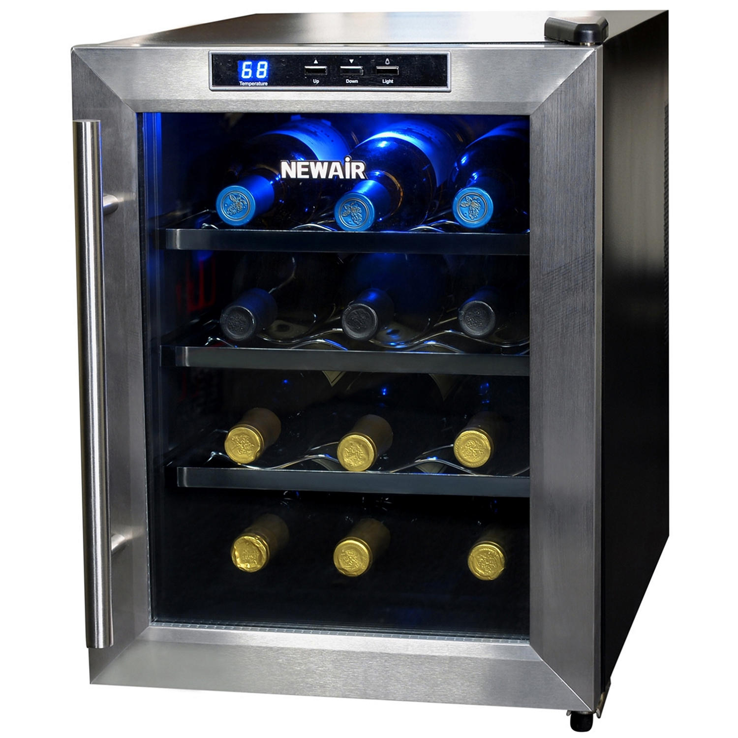 NewAir AW-121E 12-Bottle Stainless-Steel Wine Cooler