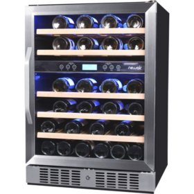 NewAir 46-Bottle Built-In Dual-Zone Wine Cooler