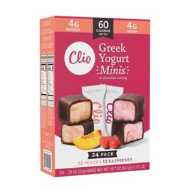 Clio Greek Yogurt Minis In Chocolate Coating, Variety Pack (24 ct.)