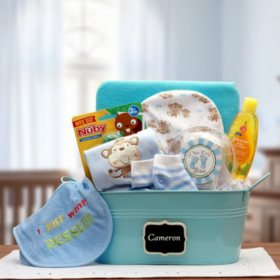 Baby Basics Gift Pail, Select Color