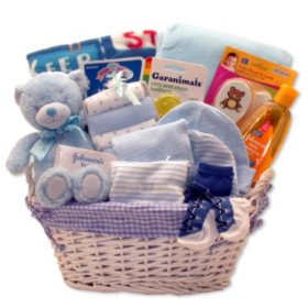 Simply Baby Necessities Gift Basket in Blue