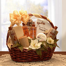 Vanilla Luxuries Bath and Body Gift Basket