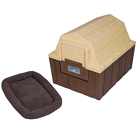 """ASL Solutions Insulated DP Hunter Dog House with Fleece Bed, Choose Your Color (23""""W x 29""""L x 23.5""""H)"""