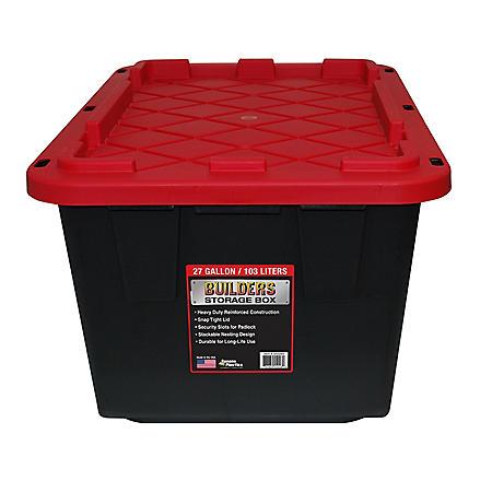 Builders Storage Box 27-Gallon Builder Storage Box