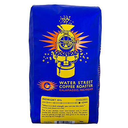 Water Street Coffee Roaster Midnight Oil Whole Bean Coffee - 2 lbs.