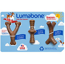 Lumabone Durable Chew Toys, Bacon Flavored (3 pk.)